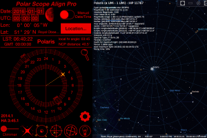 Polar Scope Align vs Stellarium (click to enlarge)