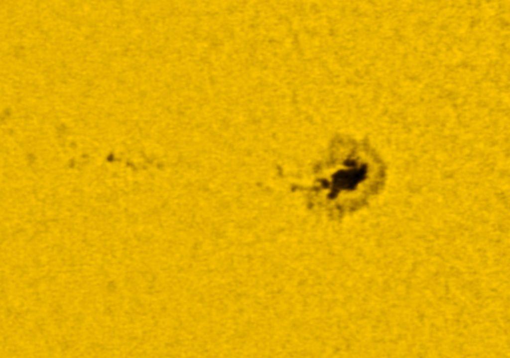 Baader Astrosolar ND 3.8, 1/640s ISO1600