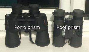 Porro vs Roof prism