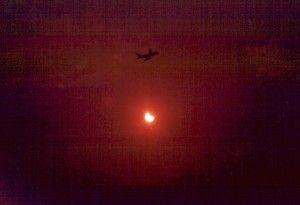 Partial eclipse of October 12, 1996 from Athens (Alimos - near the airport). 80mm lens, 85A filter.