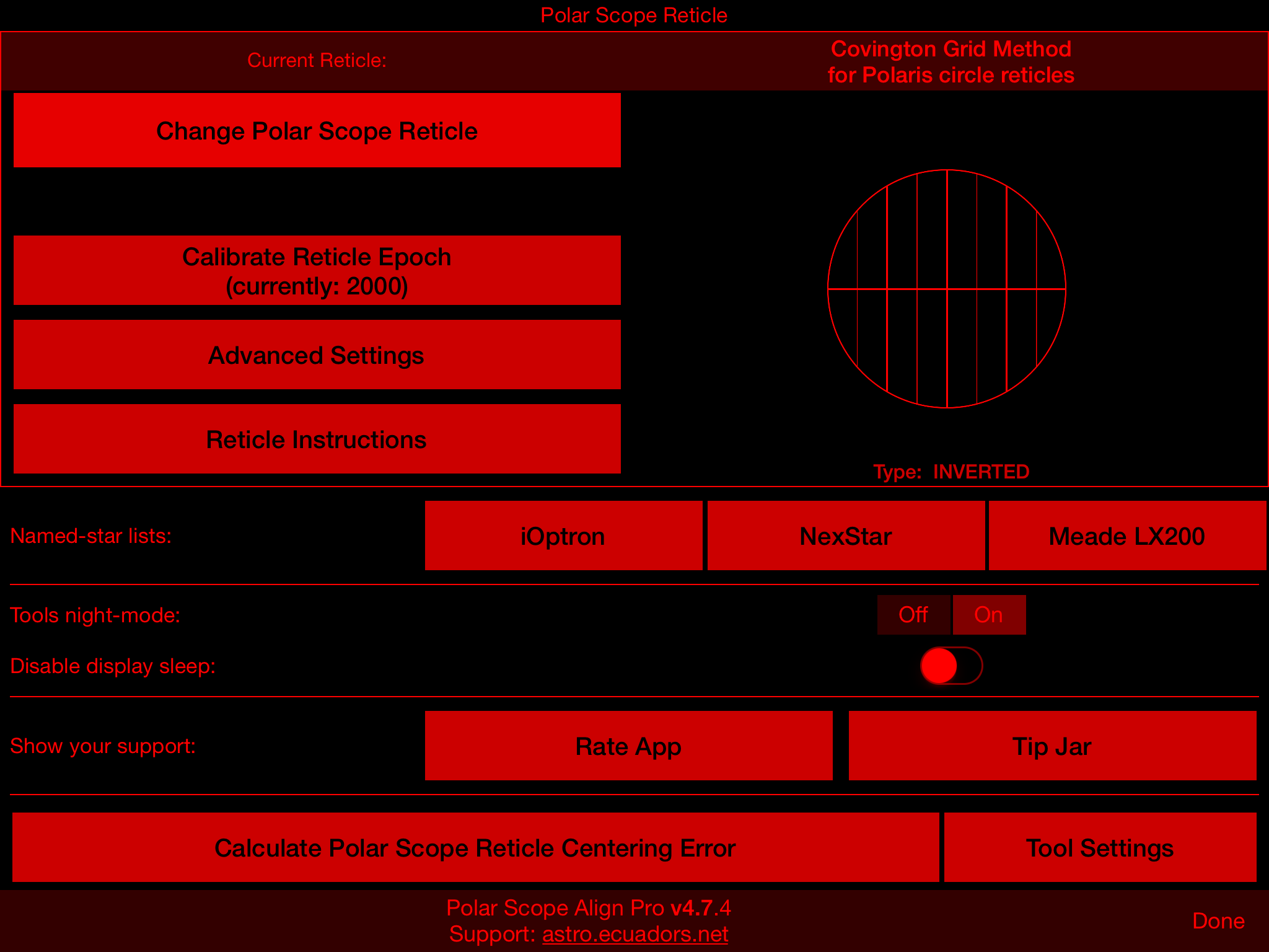 Astro Blog Delta « Polar Scope Align v4 7 released for iOS! «